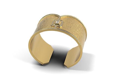 Bracelet Vendôme VI Modèle XL full Or jaune brossé