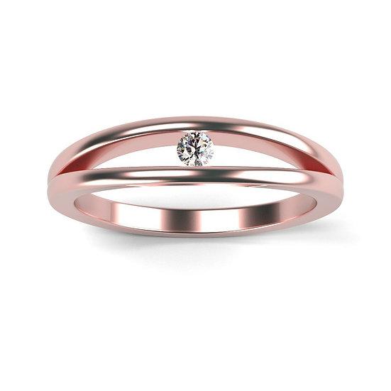 Bague LEGERETE 0,07 carat Or Rose 375/1000