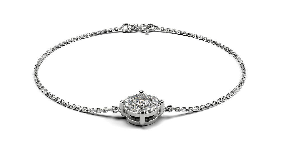 Bracelet LOUANGE 0,26 Carat Or Blanc 375/1000