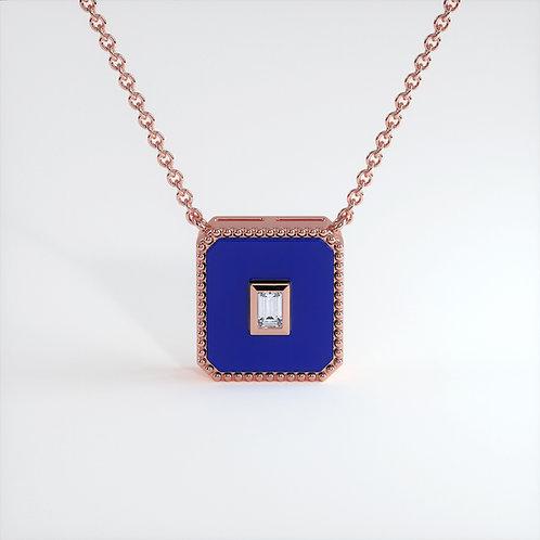 Collier Vendôme V Modèle M Or rose Blue