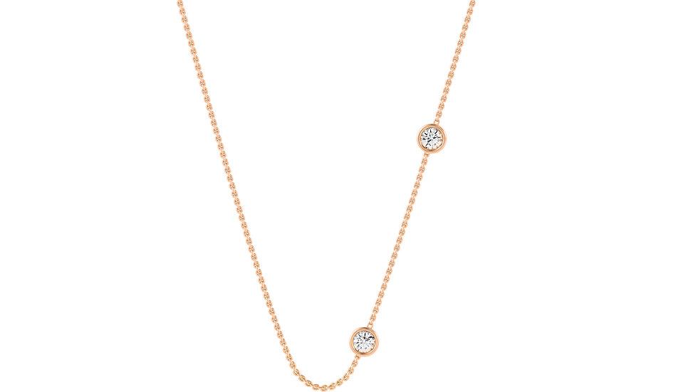 Collier REJOUIE Or Blanc, Rose et Jaune 0,10 Carat Or 375/1000