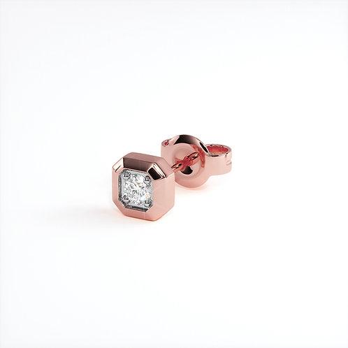 Boucles d'oreilles Triomphe (Or Rose)