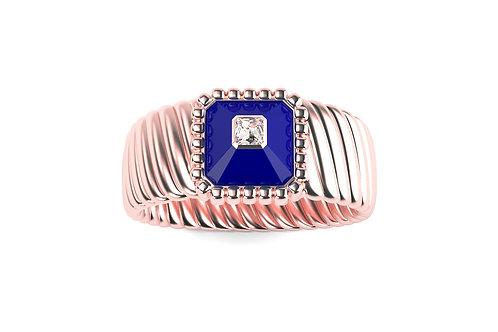 Bague Vendôme VII Modèle M Or rose Blue