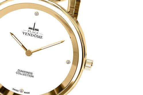 Montre Diamond Collection Métal version - doré