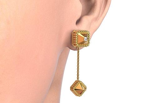 MONO Boucles d'oreilles Vendôme VII Modèle S or jaune