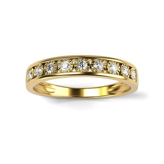 Bague GLOIRE 0,18 carat Or Jaune 375/1000