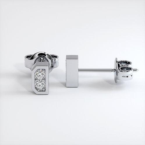 Boucles d'oreilles Dynastie Mini (Mono) Or Blanc