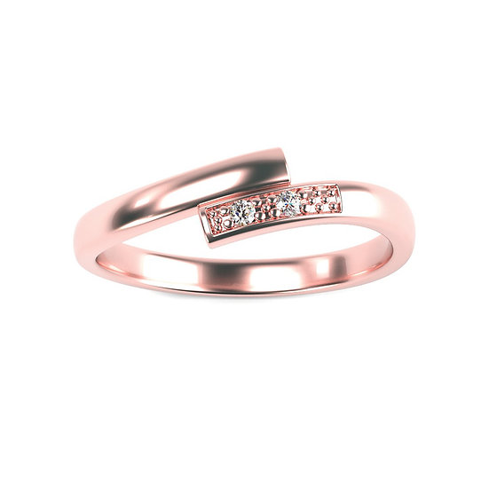 Bague CHERIE 0,02 carat Or Rose 375/1000