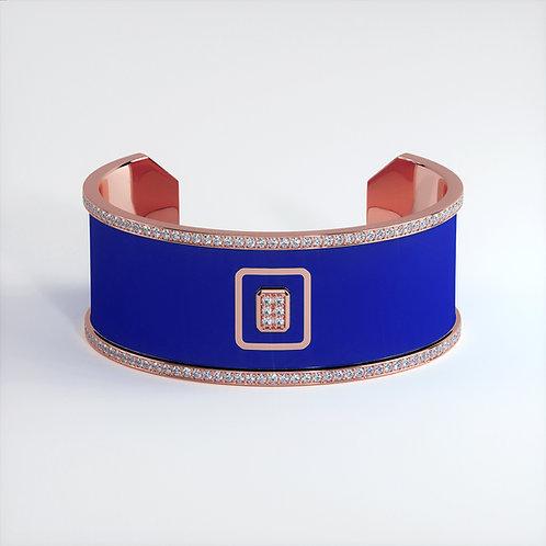 Bracelet Vendôme V Modèle M Or rose Blue