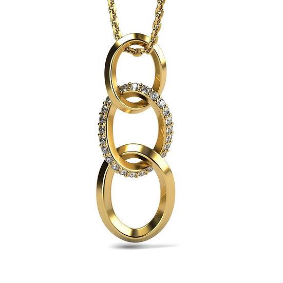 Collier UNION 0,1 carat Or Rose 375/1000