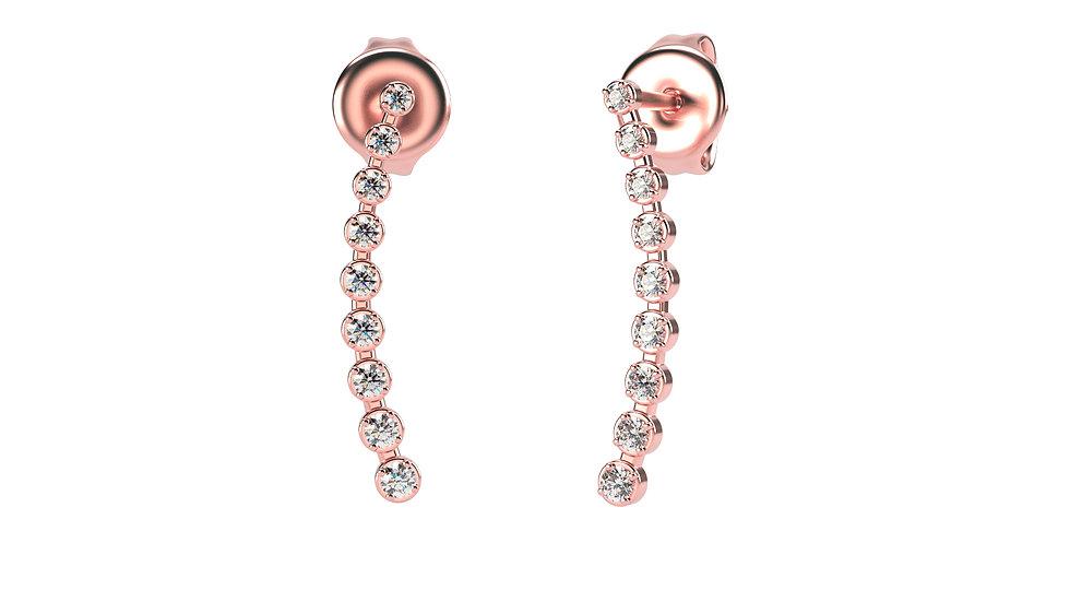 Boucles d'oreilles AGAPE 0,21 Carat Or Rose 375/1000