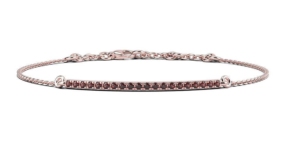 Bracelet FINESSE 0,2 carat Or Rose 375/1000