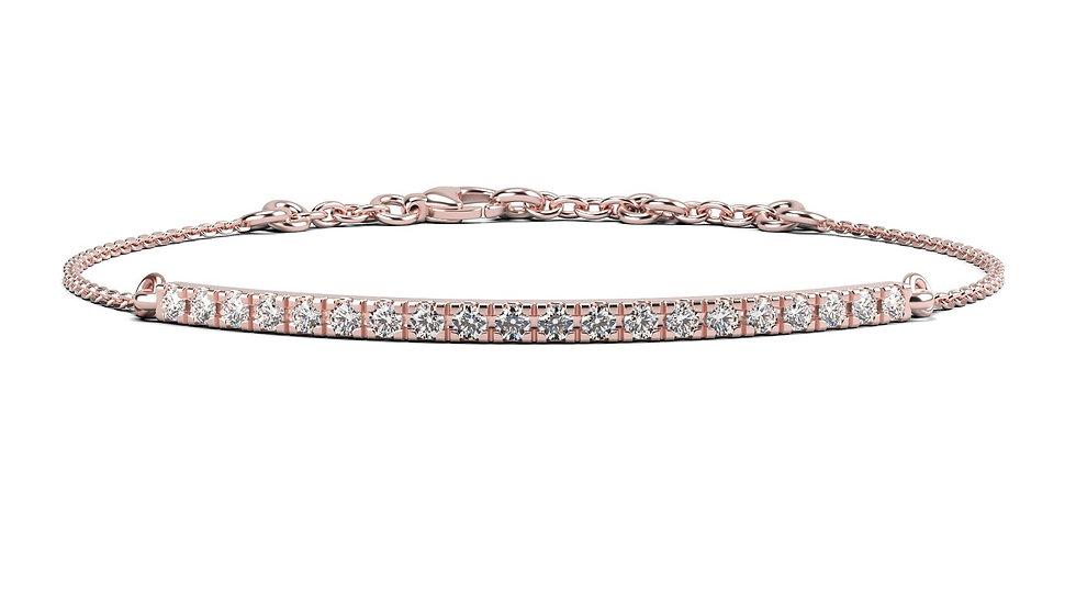 Bracelet FINESSE 0,5 carat Or Rose 375/1000
