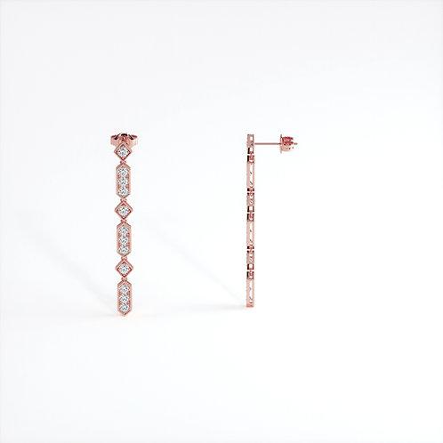 Boucles d'Oreilles Vendôme VIII Modèle XL Or Rose