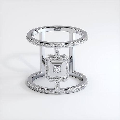 Bague Vendôme VI Modèle XL Ajouré Or blanc