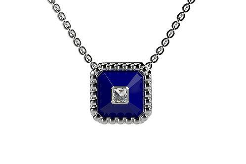 Collier Vendôme VII Modèle S Or blanc Blue