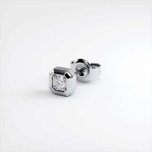 Boucles d'oreilles Triomphe (Or blanc)