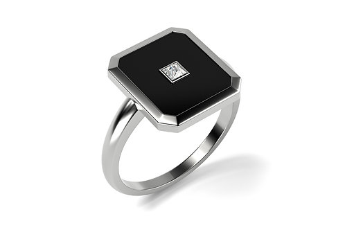 Bague Vendôme V Modèle S Or Blanc BLACK