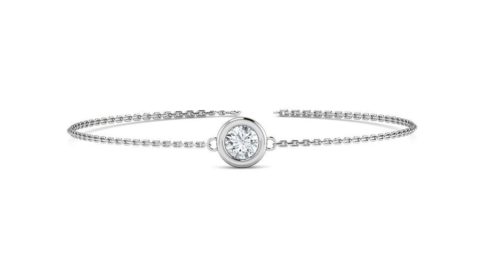 Bracelet FOLIE 0,09 carat Or Blanc 375/1000