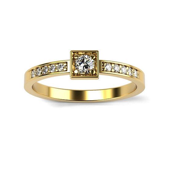 Bague COMPLICE 0,11 carat Or Jaune 375/1000