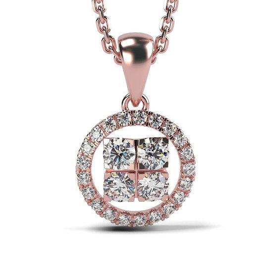 Collier SOLEIL 0,34 carat Or Rose 375/1000