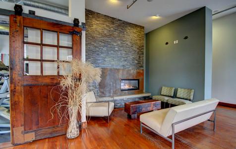 Cozy 1599 lobby fireplace