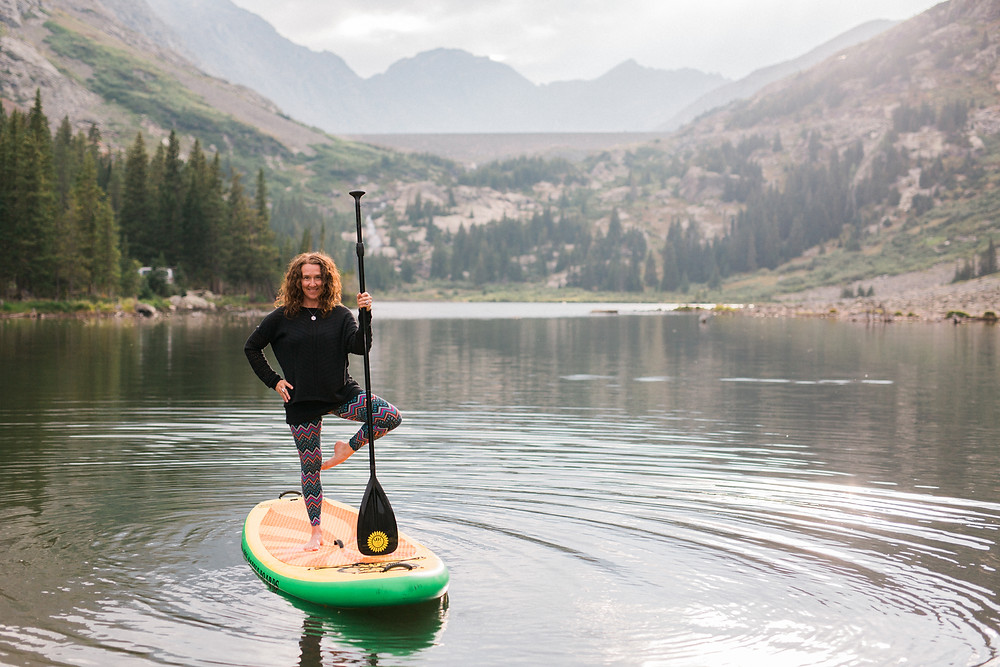 SUP Yoga at Breck Yoga Festival Photo by Meigan Canfield Photography