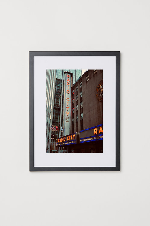 "Radio City NYC 12""x16"" Photo & Frame"