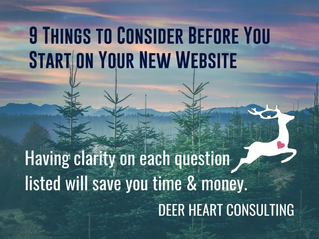 9 Points to Consider BEFORE You Start Creating Your New Website