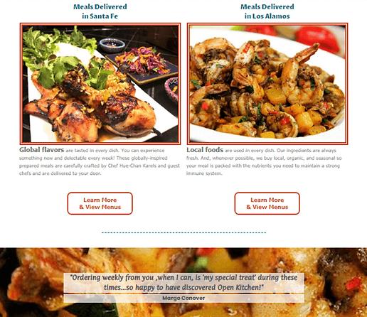 Rebranding Caterer-Website Design Conten