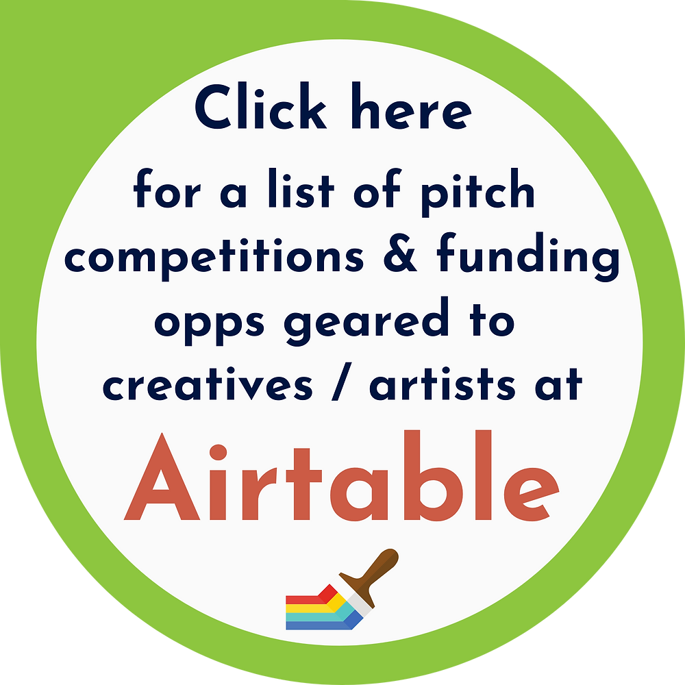 Airtable list of loans grants investors ptich competitions for creative industry entrepreneurs