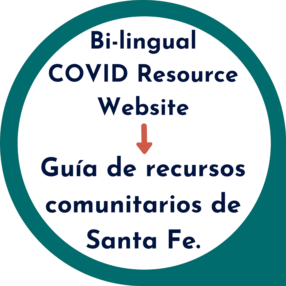 Santa Fe Community Resources Bilingual COVID resources website