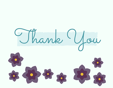 Thank You Card Card (to go with gift certificate)