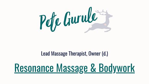 Pete Gurule Resonance Massage former cli