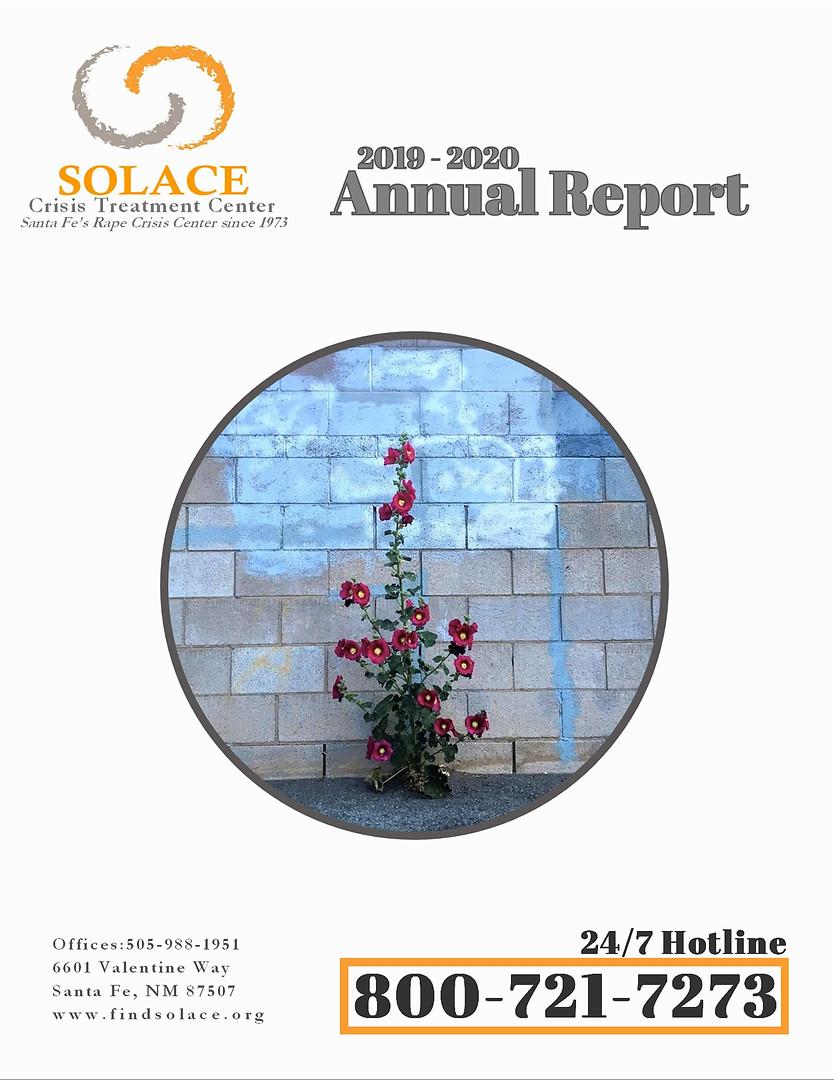 Solace Crisis Treatment Center 2019-2020 Annual Report