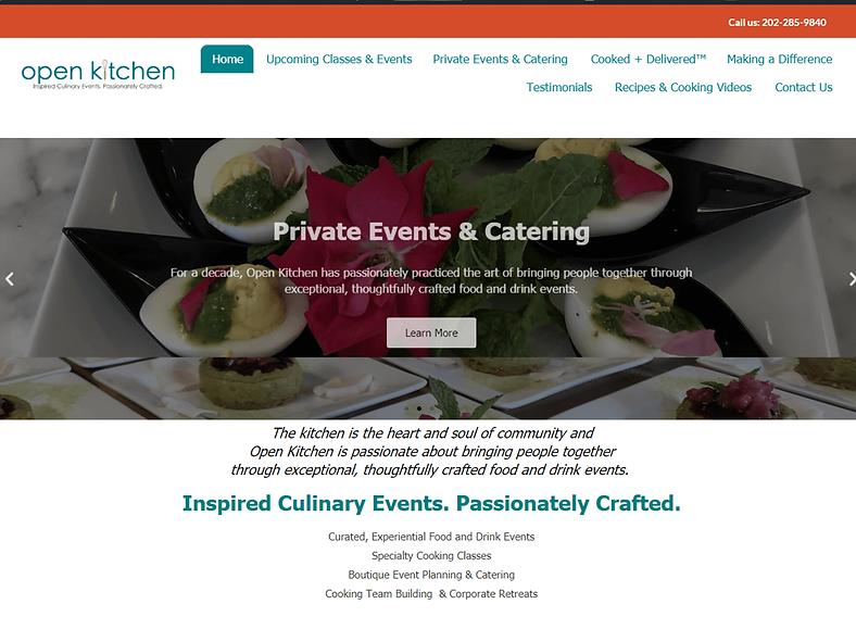 Catering (original website)