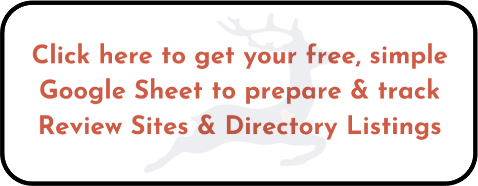 Free Google Sheet to track review sites and directory listings
