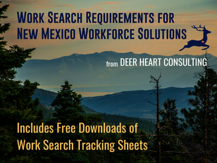 Work Search Info for STUI, PEUC, FDEB1 & PUA in New Mexico - PLUS Free Tracking Sheet Downloads