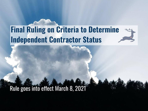 Final Ruling on Independent Contractor Status Plus Useful Tools from USDOL