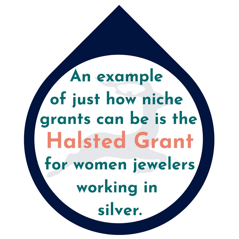 Halsted Grant for women jewelers working in silver