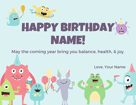 Birthday Card Card (to go with gift certificate)