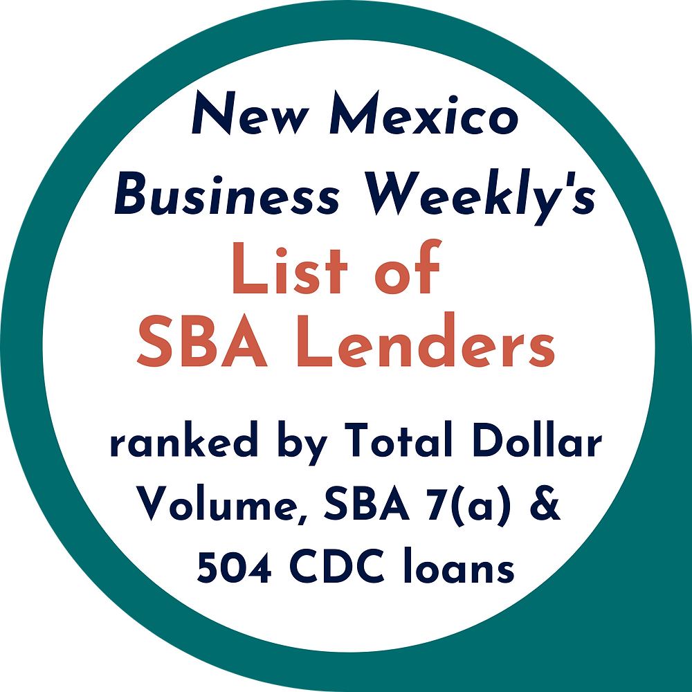 New Mexico Business Weekly List of SBA Lenders