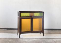 ויטרינה משילוב זכוכית  סבתא צבעונית