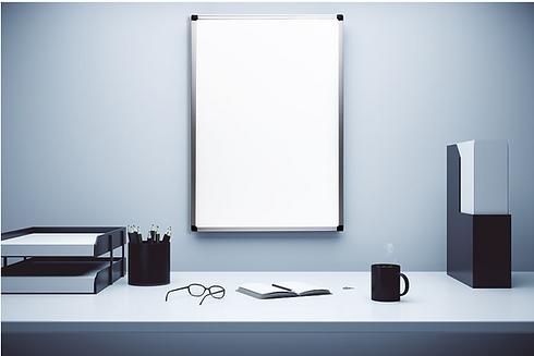 DEB - התקנה של לוח מגנטי קבוע למשרד ולוח מגנטי נייד לבית, לעבודה למשרד  של המותג ביקליר Bclear