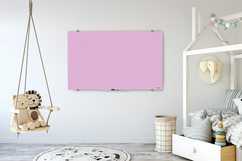 לוח מחיק זכוכית של ביקליר, לוח מגנטי איכותי מעוצב צבעוני, שקוף בצבע שחור ובצע לבן
