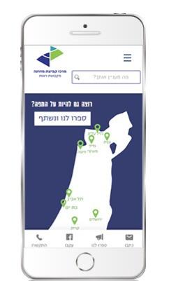 אתר עם מפה להצגת הפרויקטים לעדכון עצמי