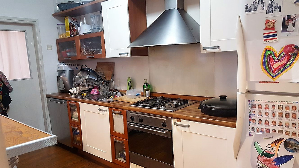 דירה גדולה למכירה ברחוב הרצוג בבלי, מטבח פתוח לסלון
