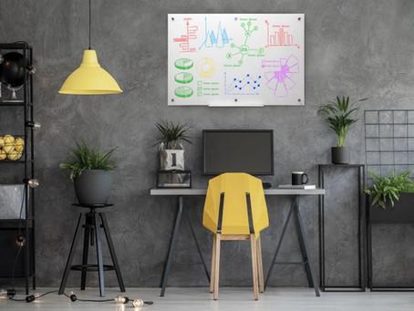 לוח מחיק כלי חובה לעבודה מהבית! 11 סיבות מעולות להתקדם לעבודה אפקטיבית מהבית