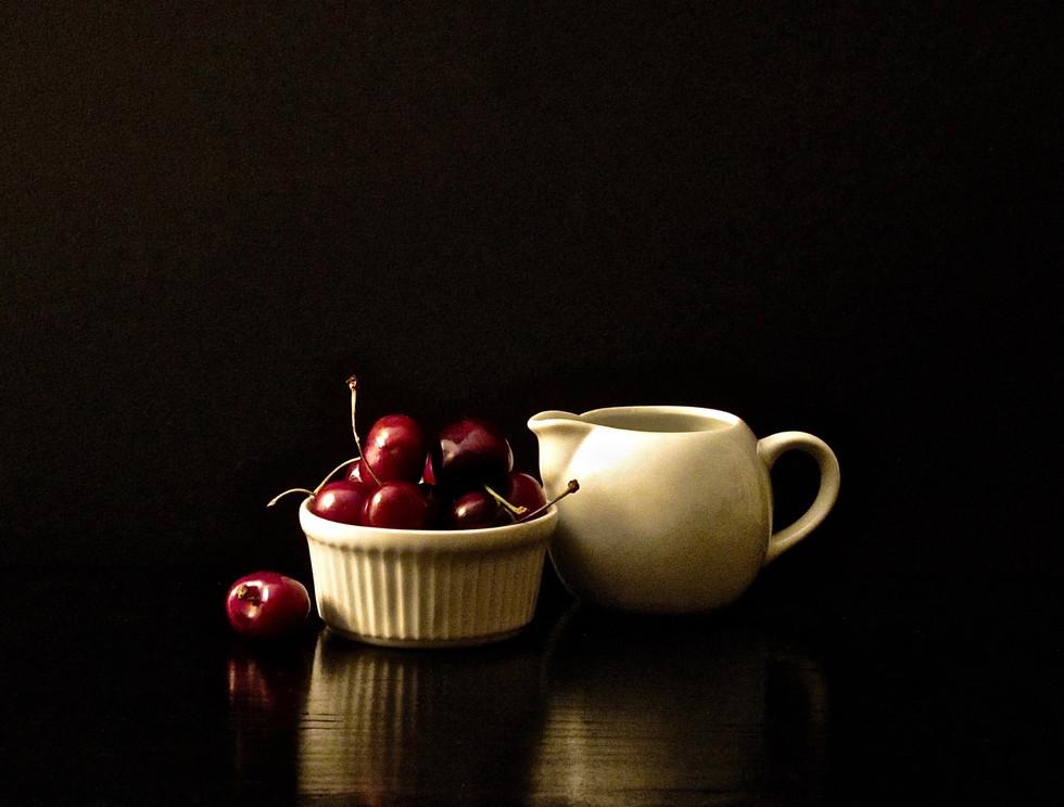 Cherries and Creamer
