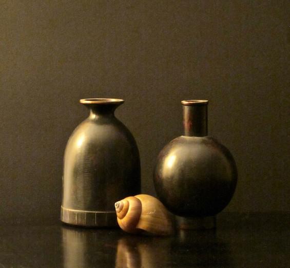 Pair of Pots & Seashell